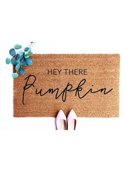 Fall Doormat, Hello There Pumpkin, Pumpkin Decor, Fall Decor, Hello Welcome Mat, Custom, Outdoor Doormat, Housewarming Gift, Patio Decor by Etsy