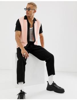 Topman   Overhemd In Roze En Zwart by Topman