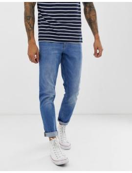 Asos Design Slim Jeans In Mid Wash Blue by Asos Design