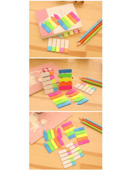 Fluorescent / Neon Repositionable Sticky Memo Bookmark Marker Index Tabs Flags by Ebay Seller