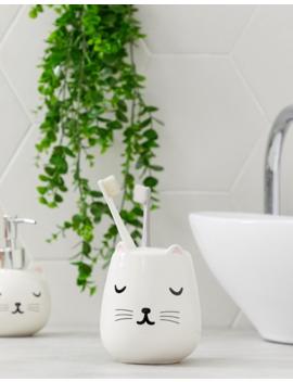 Vaso Para Cepillos De Dientes Con Diseño De Gato De Sass & Belle by Sass & Belle
