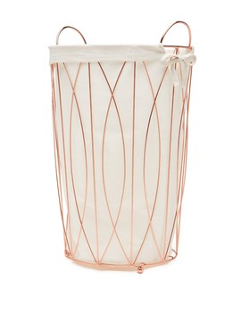 Wire Hamper With Liner by Enchante