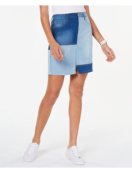 Patchwork Denim Skirt, Created For Macy's by General