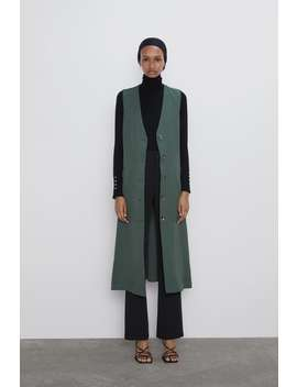 Long Buttoned Vest Style Dress New Inwoman by Zara