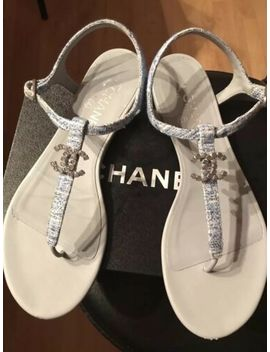 100% Auth Chanel Sandals, Sz 40 by Chanel