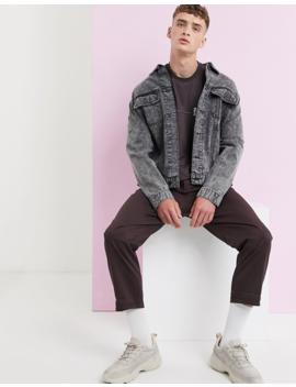 Asos Design   T Shirt Oversize Ultra Long à Manches Longues Avec Surpiqûres Contrastantes Et Poche Fonctionnelle   Marron by Asos Design
