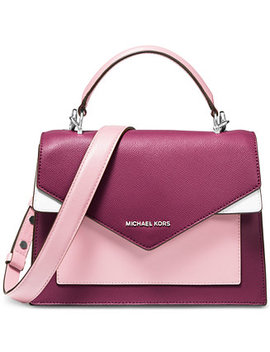 Ludlow Colorblocked Leather Satchel by General