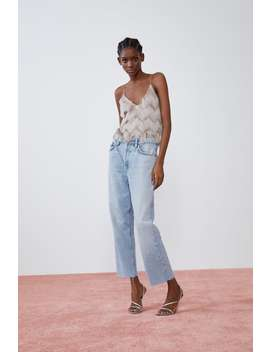 Fringed Top Tops T Shirts Trf by Zara
