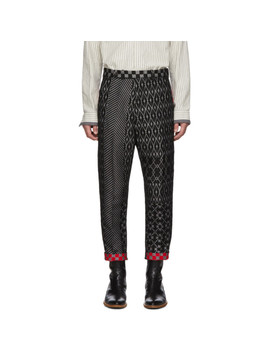Grey Cropped Low Crotch Trousers by Haider Ackermann