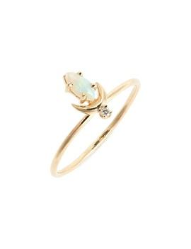 Lvna Opal & Diamond Ring by Sofia Zakia