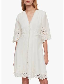 All Saints Una Broderie Dress, Chalk White by Allsaints