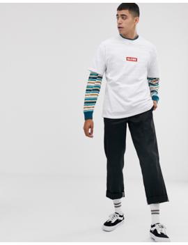 Globe   T Shirt à Logo Encadré   Blanc by Globe