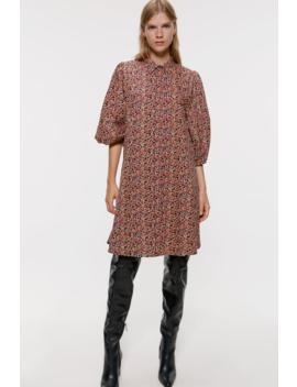 MØnstret Skjorte Kjole Se Alle Varer Kjoler Dame by Zara