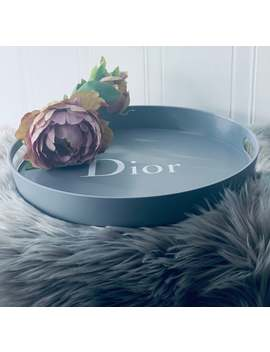 Designer Inspired Grey Or Blush Pink Tray by Etsy