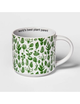 15oz Stoneware Plant Parent Mug Green   Room Essentials by Room Essentials