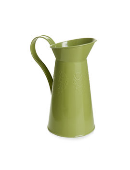 Wilko Embossed Green Tin Jug Wilko Embossed Green Tin Jug by Wilko
