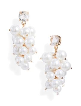 Imitation Pearl Chandelier Earrings by Rachel Parcell