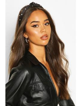 Studded Twist Knot Headband by Boohoo