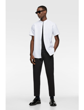 Stand Up Collar Textured Shirtspecial Prices Man by Zara