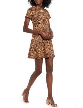 Leopard Print Rib Minidress by Good Luck Gem