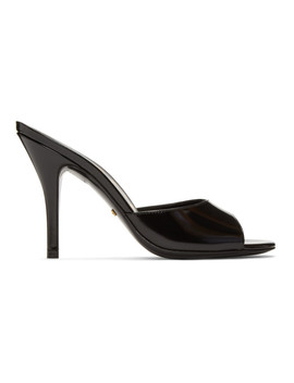 Black Slide Heeled Sandals by Gucci