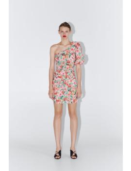 Floral Print Asymmetric Dress View All Dresses Woman by Zara