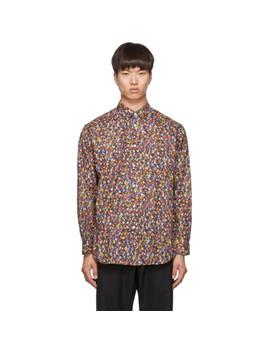 Multicolor Poplin Flower Print Shirt by Comme Des GarÇons Shirt