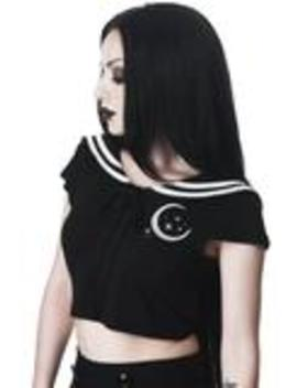 Anri Crop Top by Killstar