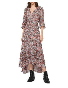 Delana Wilde Floral Wrap Dress by Allsaints