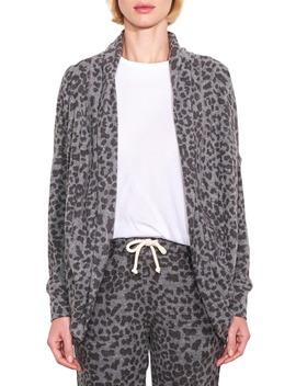 Leopard Print Long Cardigan by Sundry