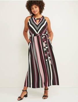 Sleeveless Cutout Neck Maxi Dress by Lane Bryant