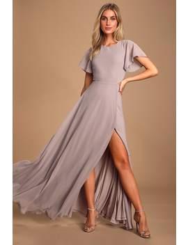 Garden Bliss Dusty Lavender Cutout Maxi Dress by Lulus