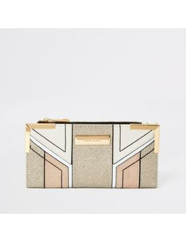 Cream Metallic Cutabout Fold Out Purse by River Island