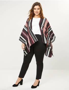 Striped Kimono by Lane Bryant