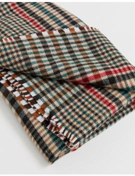 Asos Design – Quadratischer Oversize Schal Aus Tweed Im Stil Der 70er by Asos