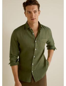 100 Percents Linen Regular Fit Shirt by Mango