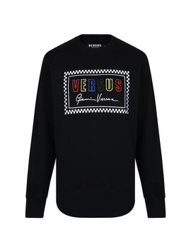 Logo Long Sleeved Sweatshirt by Versus Versace