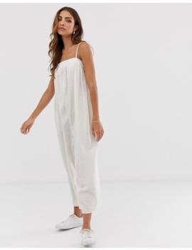 Asos Design Linen Cami Minimal Jumpsuit by Asos Design