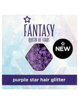 Superdrug Fantasy Queen Of Stars Hair Glitter Pot Purple by Superdrug