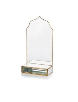 Small Taj Mirror With Drawer   Shiraleah by Shiraleah