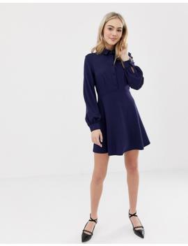 Asos Design – Mini Hemdkleid Mit Stoffbezogenen Knöpfen by Asos