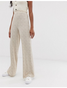 Asos Design Tall Wide Leg Pants In Neutral Non Print by Asos Design