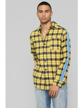 Freestyle Long Sleeve Flannel Top   Yellow by Fashion Nova
