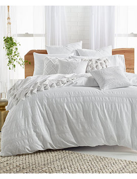 Stripe Embroidered 2 Pc. Twin Duvet Cover Set, Created For Macy's by General