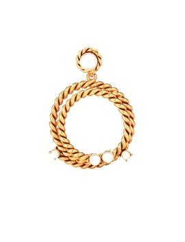 Rope Hoop Earrings by Oscar De La Renta