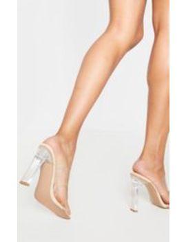Nude Clear Heel Twin Strap Clear Mule by Prettylittlething
