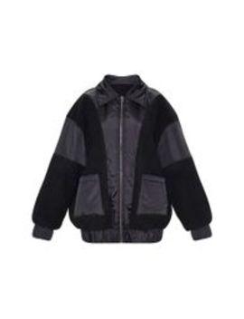 Black Borg Contrast Pocket Front Coat  by Prettylittlething