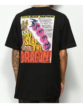 Lrg X Marvel Black Panther's Rage Black T Shirt by Lrg