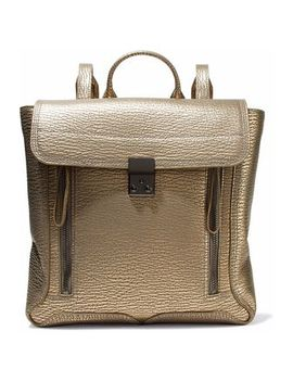 Pashli Metallic Textured Leather Backpack by 3.1 Phillip Lim