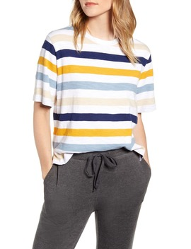 Stripe Cozy Jersey Top by Lou & Grey